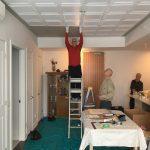 """Line Art - Styrofoam Ceiling Tile - 20""""x20"""" - #R 24 Plain White"""
