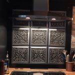 """Lover's Knot - Faux Tin Ceiling Tile - Glue up - 24""""x24"""" - #231 - Antique Silver"""