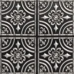 """Wrought Iron - Faux Tin Ceiling Tile - Glue up - 24""""x24"""" - #205 - Antique Silver"""