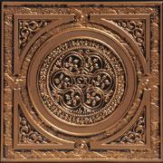 """Steampunk - Faux Tin Ceiling Tile - 24""""x24"""" - #225 - Antique Gold"""