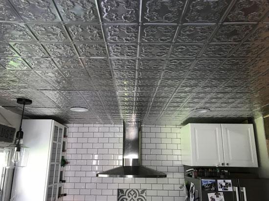 Autumn Leaves - Aluminum Backsplash Tile - #0608 - Mill Finish
