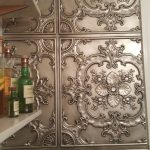 "Faux Tin Ceiling Tile - 24""x24"" - #DCT 19 - Aged Silver"