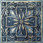 Faux Tin Ceiling Tile - 24 x 24 - #DCT 10 - Smocked Gold