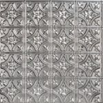 "Gothic Reims - Faux Tin Ceiling Tile - 24""x24"" - #150 - Silver"
