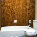 Herringbone Tile - MirroFlex - Tub and Shower Walls - Antique Bronze