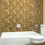 Herringbone Tile - MirroFlex - Tub and Shower Walls - Bermuda Bronze