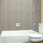 Herringbone Tile - MirroFlex - Tub and Shower Walls - Galvanized