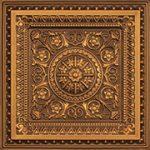 """La Scala - Faux Tin Ceiling Tile - 24""""x24"""" - #223 - Antique Gold"""