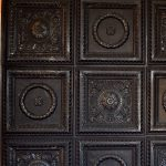 Laurel Wreath - Faux Tin Ceiling Tile - #210 - Black