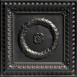 Laurel Wreath - Faux Tin Ceiling Tile - #210 - Black