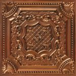 "Elizabethan Shield - Faux Tin Ceiling Tile - 24""x24"" - #DCT 04"