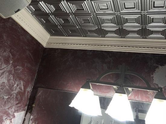 Dimensional Squares – Faux Tin Ceiling Tile – Glue up – 24″x24″ – #153