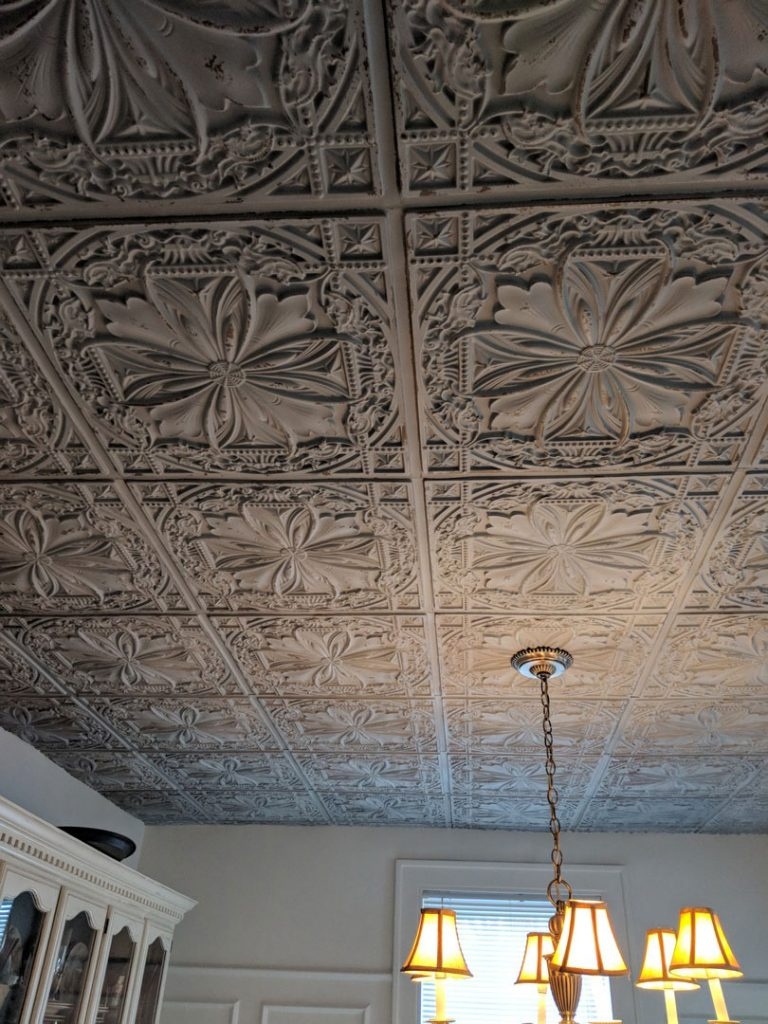 Milan Faux Tin Ceiling Tile 24 In X 24 In Dct 10