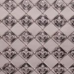 "Fleur de Lis - 3 "" Pattern - Faux Tin Backsplash Roll - #WC 80 - Antique Silver"