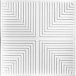 "Pyramid Illusion - Styrofoam Ceiling Tile - 20""x20"" - #R06 - Plain White"