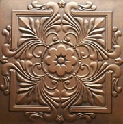 "Victorian - Styrofoam Ceiling Tile - 20""x20"" - #R14 - Antique Bronze"