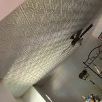 "Wrought Iron - Faux Tin Ceiling Tile - Glue up - 24""x24"" - #205 - White Matte"