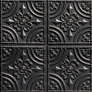 "Wrought Iron - Faux Tin Ceiling Tile - Glue up - 24""x24"" - #205"