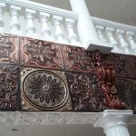 Rose Window – Faux Tin Ceiling Tile – 24″x24″ – #238
