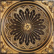 Rose Window – Faux Tin Ceiling Tile – 24″x24″ – #238