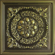 "Mumbai - Faux Tin Ceiling Tile - 24""x24"" - #247"