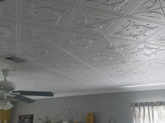 Diamond Wreath Glue-up Styrofoam Ceiling Tile 20″x20″ – #R02