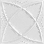"Elliptical Illusion – Styrofoam Ceiling Tile – 20""x20"" – #R 13"