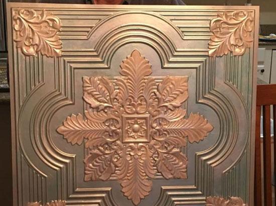 Large Snowflake – Faux Tin Ceiling Tile – 24″x24″ – #206