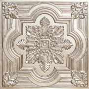 "Large Snowflake - Faux Tin Ceiling Tile - 24""x24"" - #206"