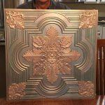 "Large Snowflake - Faux Tin Ceiling Tile - 24""x24"" - #206"