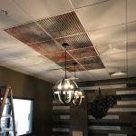 "Ridged Metal - Faux Tin Ceiling Tile - 24""x24"" - #261"