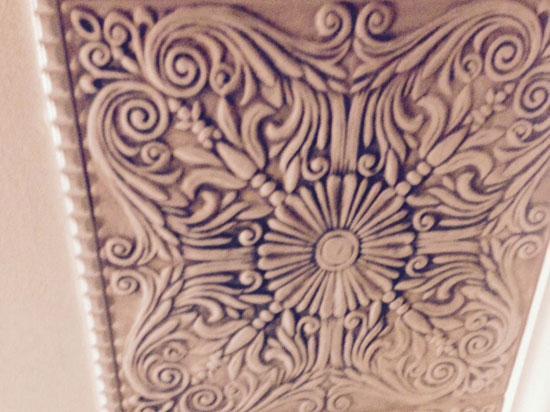 Spanish Silver Styrofoam Ceiling Tile 20″x20″ – #R139