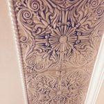 """Spanish Silver Styrofoam Ceiling Tile 20""""x20"""" - #R139"""