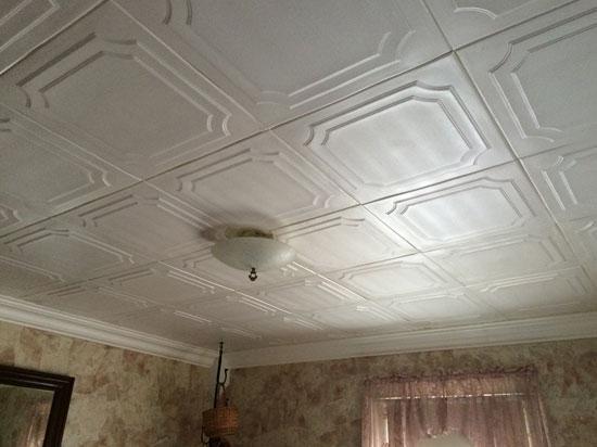 The Virginian Glue-up Styrofoam Ceiling Tile 20″x20″ – #R08