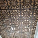 "Golden Prague - Faux Tin Ceiling Tile - Glue up - 24""x24"" - #218"