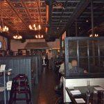 "Laurel Wreath - Faux Tin Ceiling Tile - #210 - Antique Silver -Installed at ""Blue 44 Restaurant"" - Washington DC, USA."