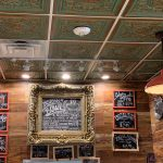 "Rhine Valley – Faux Tin Ceiling Tiles – Drop In – 24″x24″ – #VC 02 - Installed at ""D'Cuban Cafe"" - Marietta, Georgia, USA"