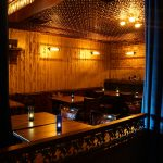 "Gothic Reims - Faux Tin Ceiling Tile - 24 in x 24 in - #150 - Installed at ""The East End Whiskey Bar"" - Providence, Rhode Island, USA"