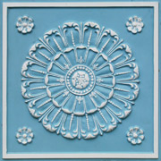 Aegean Seashell - Faux Tin Ceiling Tile - 24 in x 24 in - #151