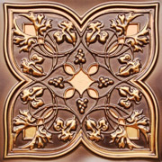 Spring Vineyard - Faux Tin Ceiling Tile - 24 in x 24 in - #212