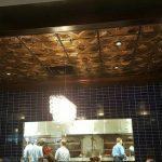 "Sunset Boulevard – Faux Tin Ceiling Tile – 24″x24″ – #201 - Installed at ""Fogo De Chao Atlanta Restaurant"" - Atlanta, Georgia, USA"