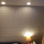 Granny's Pinwheel Quilt Glue-up Styrofoam Ceiling Tile 20 in x 20 in - #R55