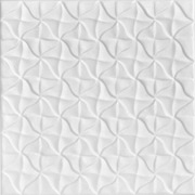 Granny's Pinwheel Quilt Glue-up Styrofoam Ceiling Tile 20 in x 20 in - #R55