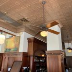 "Madison Square – Tin Ceiling Tile – #1201 - Installed at ""Ted Montana Grill"" – Atlanta - Installed at ""Ted Montana Grill"" – Atlanta"