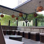 "Faux Tin Ceiling Tile – 24 x 24 – #DCT 10 - Installed at ""Little Alley Steak - Outdoor Bar"" - Buckhead, Atlanta, GA 30326, USA"