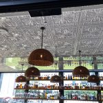 "Faux Tin Ceiling Tile – 24 x 24 – #DCT 10 - Installed at ""Little Alley Steak - Outdoor Bar"" - Buckhead, Atlanta, GA 30326, USA"