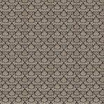 Damask Fabric Beige on Black