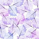 Leaves Modern Blue Violet