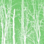 Winter Trees Green