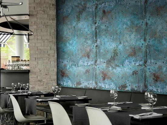Metal Artwork Wall at a Restaurant